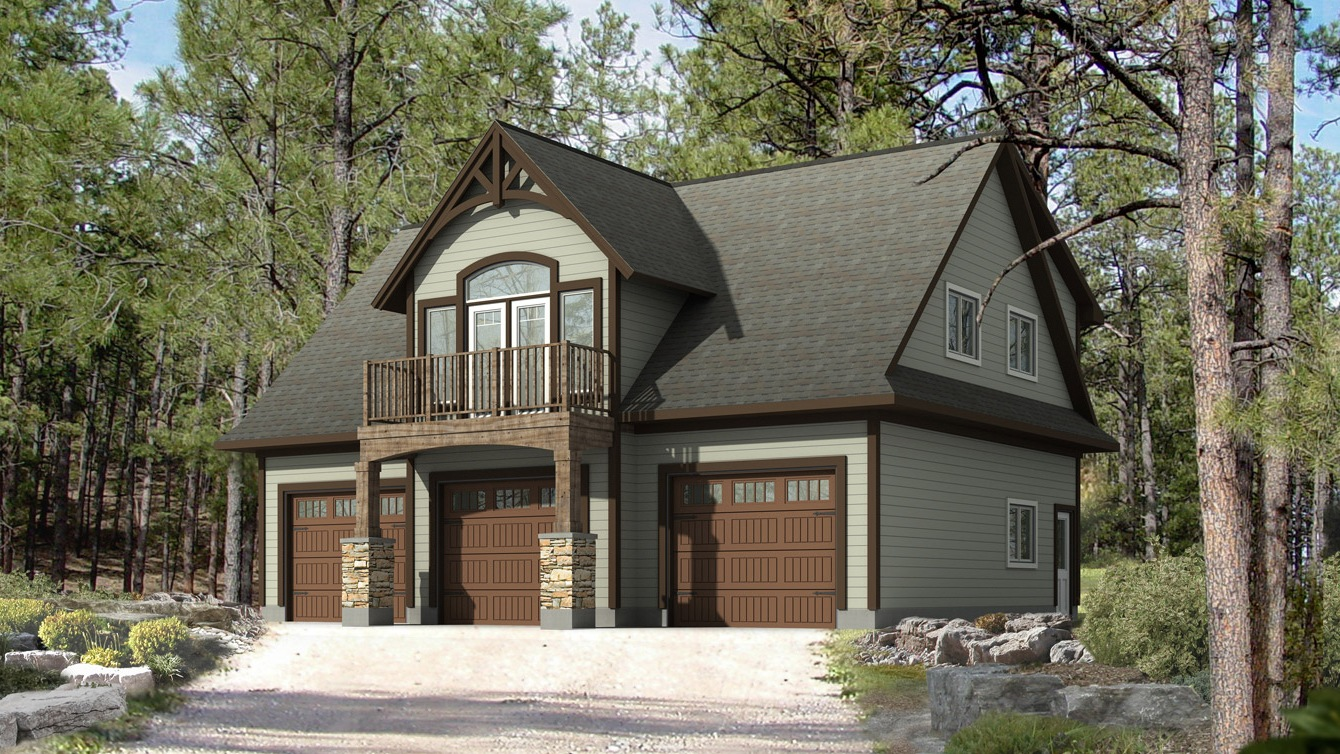 Beaver homes and cottages whistler ii Log garage kits with loft