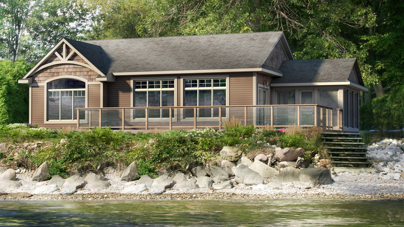 Beaver homes and cottages lodgepole for Home hardware cottage packages