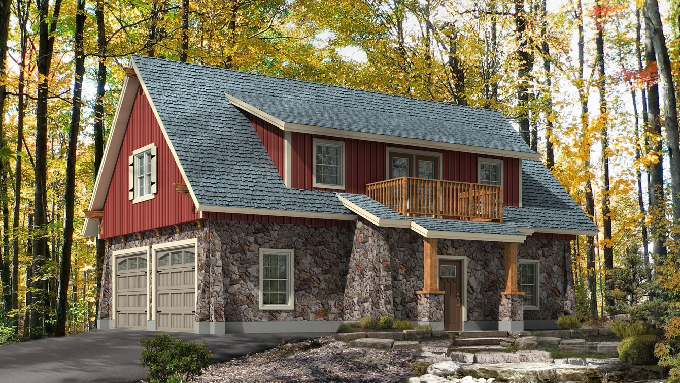 Beaver homes and cottages cotswold ii for 2 bay garage with loft