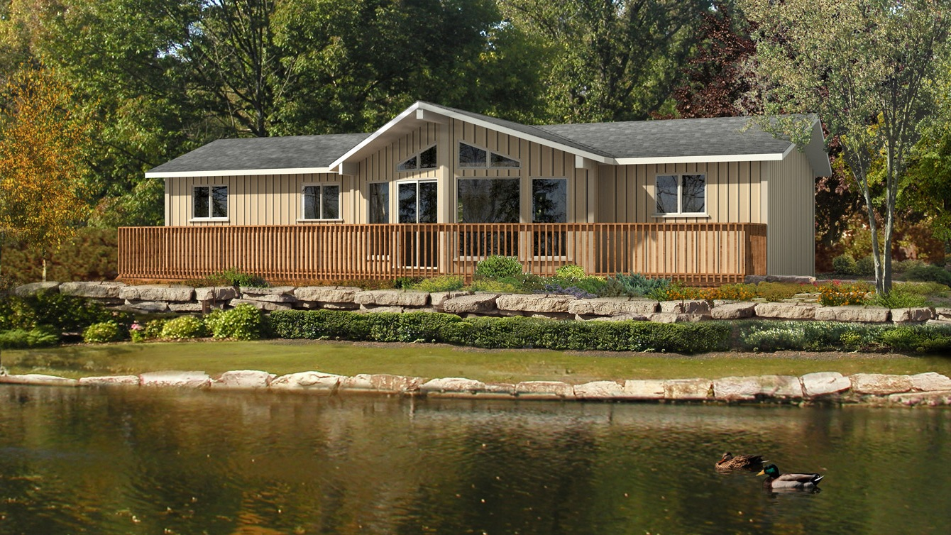 Beaver homes and cottages aurora ii for Home hardware cottage packages